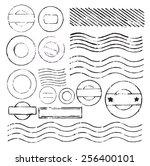 vector retro postage stamp on... | Shutterstock .eps vector #256400101
