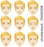 facial expression of man ... | Shutterstock .eps vector #25640308