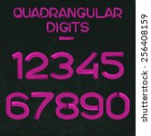 vector font of digits in the... | Shutterstock .eps vector #256408159