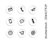 contact icons stickers | Shutterstock .eps vector #256417519