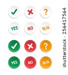 choice yes  no    n a stickers | Shutterstock .eps vector #256417564