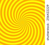 yellow and orange spiral rays... | Shutterstock .eps vector #256422229
