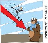 stock market gone bad   Shutterstock .eps vector #256432441