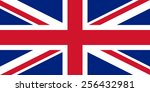 united kingdom flag | Shutterstock .eps vector #256432981