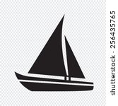 sailing boat icon | Shutterstock .eps vector #256435765