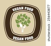 vegan food design  vector... | Shutterstock .eps vector #256443877
