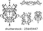 elegant floral ornament.   Shutterstock .eps vector #25645447