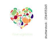 heart vegetables food vector... | Shutterstock .eps vector #256455265
