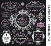 vector vintage collection ...   Shutterstock .eps vector #256456969