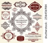 vector vintage collection ... | Shutterstock .eps vector #256456984