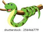illustration of cartoon snake | Shutterstock .eps vector #256466779