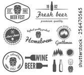set of vintage logo  badge ...   Shutterstock .eps vector #256470565