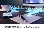 future office concept.... | Shutterstock . vector #256473619