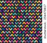 abstract retro stylish... | Shutterstock .eps vector #256473817