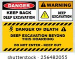 deep excavation   keep back ... | Shutterstock .eps vector #256482055