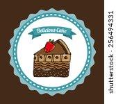 delicious bakery design  vector ... | Shutterstock .eps vector #256494331