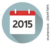vector calendar icon with long... | Shutterstock .eps vector #256497895