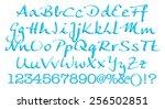 3d alphabet set on white... | Shutterstock . vector #256502851