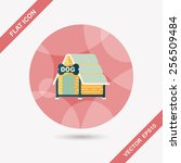 pet dog house flat icon with... | Shutterstock .eps vector #256509484