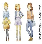 fashionable girls without a...
