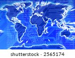modern map of the world with a... | Shutterstock . vector #2565174