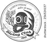 Diving Club Label