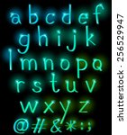 sparkling letters of the...   Shutterstock .eps vector #256529947