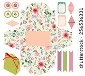 favor  gift  product box die... | Shutterstock .eps vector #256536331