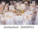 wedding table decoration in...   Shutterstock . vector #256539511
