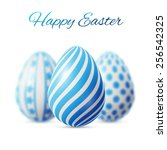 Happy Easter Poster  Three Blu...
