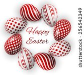 Happy Easter Poster  Red Eggs...