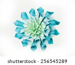 abstract image of origami... | Shutterstock . vector #256545289