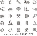 police icon set | Shutterstock .eps vector #256551529