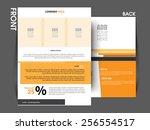 vector flyer template  brochure ... | Shutterstock .eps vector #256554517