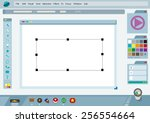 graphical user interface or gui ... | Shutterstock .eps vector #256554664