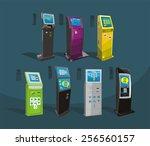 payment terminal  digital touch ... | Shutterstock .eps vector #256560157