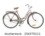 Red Old Fashioned Bicycle...