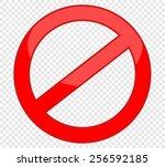not allowed sign | Shutterstock .eps vector #256592185