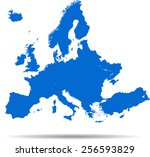 detailed vector map of the... | Shutterstock .eps vector #256593829