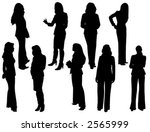 vector silhouettes of business... | Shutterstock .eps vector #2565999