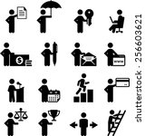 business occupation icons | Shutterstock .eps vector #256603621