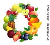 illustration letter o composed...   Shutterstock . vector #256604521