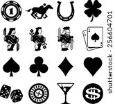 gambling and casino icon set