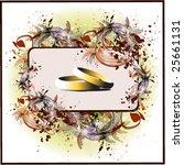 vector illustration of wedding... | Shutterstock .eps vector #25661131