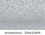 silver glitter christmas... | Shutterstock . vector #256615609