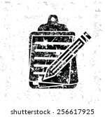 document design on old paper... | Shutterstock .eps vector #256617925