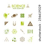 vector flat icon set   science | Shutterstock .eps vector #256619329