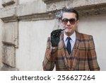 milan  italy   february 26 ... | Shutterstock . vector #256627264