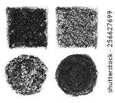 black oil pastel banners ... | Shutterstock .eps vector #256627699