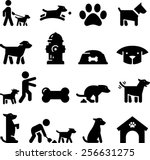 Stock vector dogs and puppy icons 256631275